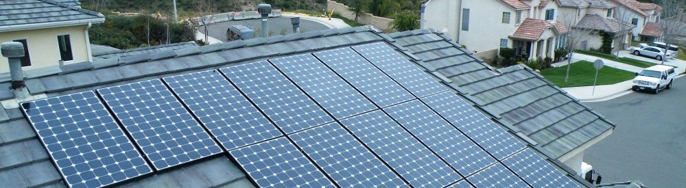 Clean rooftop solar panels